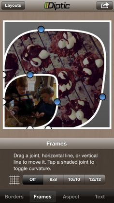 Diptic app - make super customized and personalized photo collages for Instagram, Facebook, and more.
