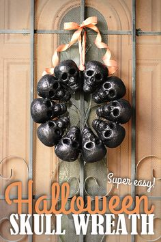 Dollar Tree skull wreath