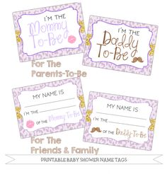 8 Awesome Baby Shower Name Tags Images Baby Shower Printables