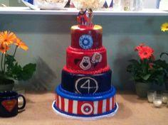 Super hero wedding cake by me.