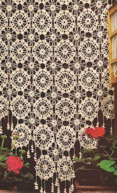 #461 Cortina de ruedas a Crochet o Ganchillo                              …