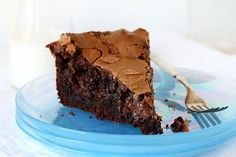 Chocolate Ooey Gooey Butter Cake #chocolate #cake