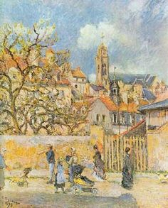 Camille Pissarro, Park in Pontoise Fine Art Reproduction Oil Painting