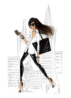 fashionillustr.quenalbertini: Just The Essentials by Anum Tariq