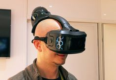 Hands-on: Augmented and virtual reality come together in Sulon Cortex | If you thought VR headsets like the Oculus Rift and Gear VR looked funky, wait until you see the Sulon Cortex. On the front, it looks a lot like those headsets, but then it adds a bulbous growth on its backside. It makes you look a bit like the love child of Master Chief and a rare African fowl. But that bulb-like structure on the back has an important purpose ...