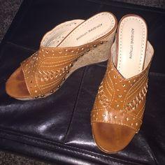 Gently worn Boho wedges Gently worn size 8.5 wedges Adrienne Vittadini Shoes Wedges