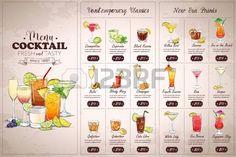 Image result for cocktails menu graphic