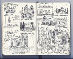 A page from my personal travel journal showing my experiences in Rome
