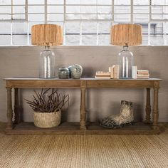Reclaimed elm and poplar wooden console. Solid wooden base and top with turned legs W x D x H Entrance Table, Entryway Tables, Wooden Console, Lounge, Dining, Interiors, Furniture, Home Decor, Posts