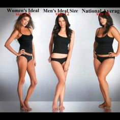 I love that men's ideal size is 12. Rock on for curvy, beautiful women!