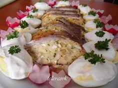 Traditional Hungarian Easter food: teller-cook: Töltött dagadó Easter Recipes, Easter Food, Pork, Dishes, Traditional, Cooking, Amazing, Kale Stir Fry