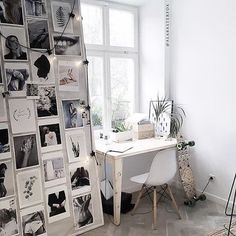 A workspace in @the_odderside store in Poland captured by Adrianna Zielińska. How cool is that inspo wall? | @workspacegoals