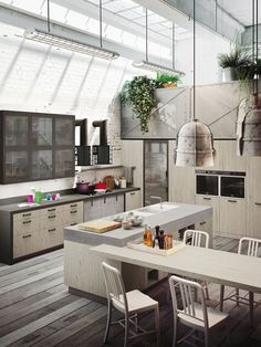 Loft | Collection System | Industrial Kitchens From Snaidero | Loft |  Pinterest | Industrial Kitchens, Lofts And Industrial