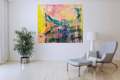 Lost in Aruba – XL colorful abstract painting Vivid Colors, The Darkest, Lost, Tapestry, Colorful, Abstract, Canvas, Artist, Modern