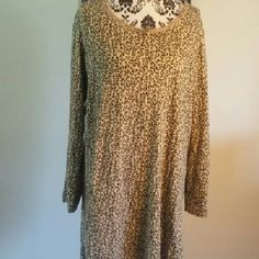 Animal Print Sleepwear Pre owned in good condition. Very city night gown with sleeves. Material is 100% Cotton Simply Basic Intimates & Sleepwear Pajamas