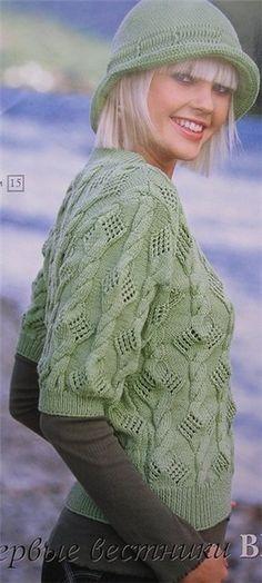 Пуловер с ажурными косичками и шляпка. Обсуждение на LiveInternet - Российский Сервис Онлайн-Дневников