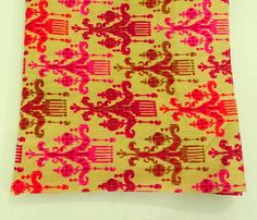"Pink Beige Ethnic Fabric Blue Beige Indian cotton orange beige traditional print tribal boho fabric by the yard 42"" wide cotton fabrics      Beautiful Indian cotton   fabric with unique ethnic prints. This is perfect for any kind of sewing projects such as purse, bags, dresses, quilts, etc.     If you buy more than one you will get an uncut piece.     Fabric: Cotton    Size : 36 "" x 42""    Usage : Dress, tunic, bag making, quilting, fashion, general sewing and crafting.     Maintenance…"