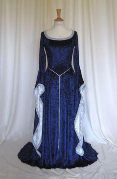 Medieval / Elvish / Pre- Raphaelite / Gothic / Renaissance / Larp / Faery / Wedding Dress. $259.00, via Etsy.