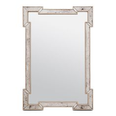 "We all need a bit of glamour! The Norma is just the mirror to give it to you. A thin border with cut-out sides is formed from antiqued mirror panels. It was inspired from the beautiful vanity mirrors of the 1930's.    Available in 2 sizes:  Small: 26""x38""  Large: 30""x52"""
