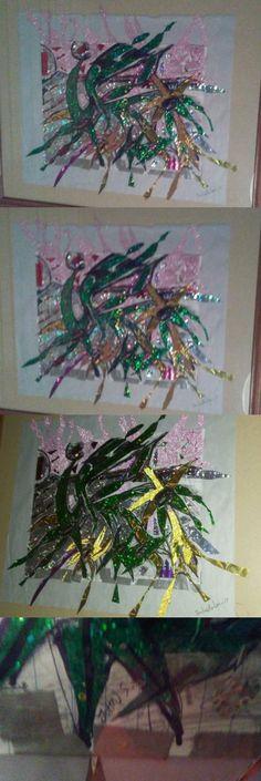 Craft Tape 122694: Alien Plantoid 3D Hallucinogenic Duct Tape Art 2017 Original -> BUY IT NOW ONLY: $200 on eBay!