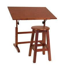 Creative Table and Stool Set in Walnut Finish by Studio Designs