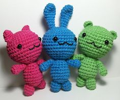 Cat, Bunny and Bear or Other Amigurumi Patterns by Emjay Bailey - FREE CROCHET PATTERN