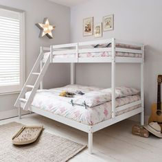 Noa and Nani Kent Triple Bed Bunk Bed in White | £159.99 | #TeenBedroom #Furniture #HomeDecor