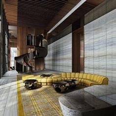 Brickell House by Sieger Suarez Architects & Designer Yabu Pushelberg, #Miami #Usa ...