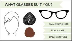 Oval face shape? Black hair? Dark skin-tone? Match your best qualities up with glasses suited just for you! Find yours here: http://www.valleyoptics.co.uk/what-glasses-suit-me