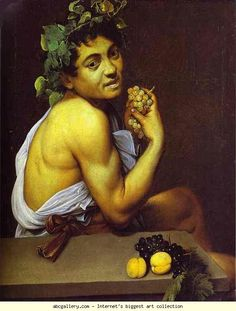 Caravaggio. Self-Portrait as Sick Bacchus. c.1593-1594. Oil on canvas. Galleria Borghese, Rome, Italy.