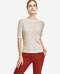 Image of Knot Stitch Sweater color Winter White