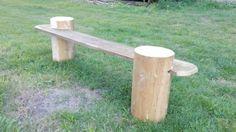 Nowe ławki przy ognisku.   © Elka Król