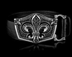 Find the bold Fleur De Lis Belt Buckle in Solid Sterling Silver and more rocking belt buckles at NightRider Jewelry Luxury Belts, Big Men Fashion, Fashion Styles, Silver Belts, Silver Rings, Gold Ring, Leather Belts, Men's Belts, Bracelets For Men