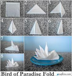 Bildergebnis für origami napkin folding