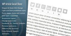 WordPress Article Social Share v1.3.3