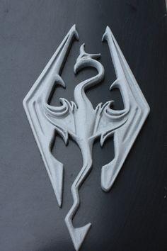 Logo di stampa 3D di Skyrim di Latelierdu22 su Etsy