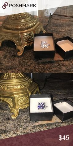 IVANKA TRUMP CUBIC ZIRCON ENGAGEMENT RING GORRRGEOUS 7 carat CUBIC ZIRCONIA!! Nice looking and zircon gives almost identical look 👀 to Diamond. Just KEEEEP CLEAN!!  Purchased in Vegas diamonique cubic zircon Jewelry Rings