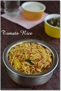 Tomato Rice - my opinion... this recipe should be good to serve with curry dishes