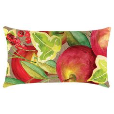 Add a pop of style to your patio dining set or conversation group with this charming indoor/outdoor pillow, featuring a watercolor-inspired fruit motif....