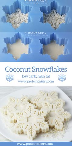 Coconut Snowflakes - low carb, high fat