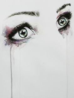 Beautifull Eyes Illustration Art Print. €15.85, via Etsy.