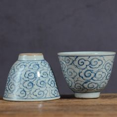 """JingDeZhen Qinghua Porcelain """"Cloud"""", Blue & White China, 100cc, Tea Cup Chinese Tea Set, Blue And White China, Tea Cups, Planter Pots, Porcelain, Clouds, Hand Painted, Gifts, Painting"""