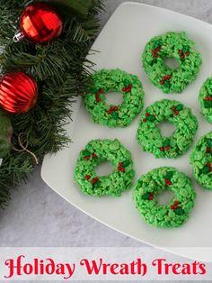 Christmas Wreath Cookies, Easy Christmas Treats, Holiday Wreaths, Simple Christmas, Christmas Sweets, Holiday Crafts, Xmas Cookies, Christmas Foods, Holiday Foods