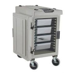 Contenedor transportador de alimentos térmico Rubbermaid Catermax 100 platino con ruedas