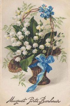 Diverses images vintage pour la fête du 1er mai