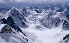 snowy mountains Wallpaper HD Wallpaper