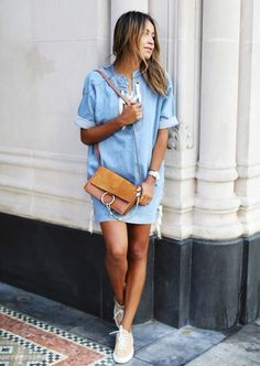 The Outfit: Minidress + Sneakers