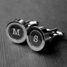 #Groomsmen Gift Idea:  Personalized Typewriter Key Cuff Links -- $35 -- You Pick Letters