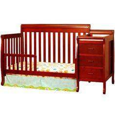 Afg kimberly convertible crib and changer combo - 518 - cherry Baby Nursery Diy, Baby Nursery Neutral, Nautical Nursery, Baby Nursery Furniture, Toddler Furniture, Baby Changing Table, Changing Pad, Nursery Shelves, Adventure Nursery