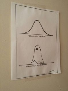 im such a nerd lol i loveThis spooky distribution chart. Math Puns, Science Puns, Math Humor, Biology Humor, Grammar Humor, Calculus Humor, Physics Humor, Easy Science, Preschool Science